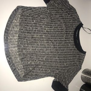 marked gray forever 21 varsity crop top boxy fit